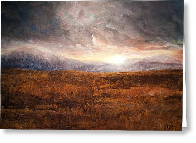 After The Storm - Warm Tones Greeting Card by Jessica Tookey