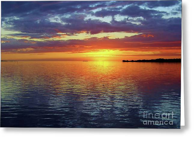 After The Sunset Greeting Card by D Hackett