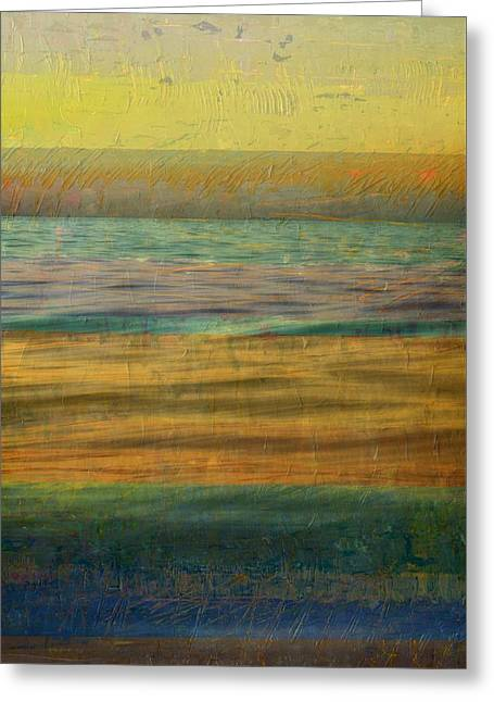 After The Sunset - Yellow Sky Greeting Card