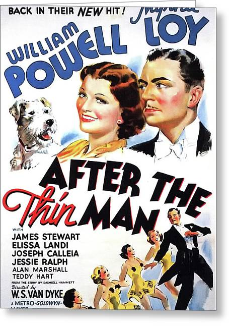 After The Thin Man 1936 Greeting Card