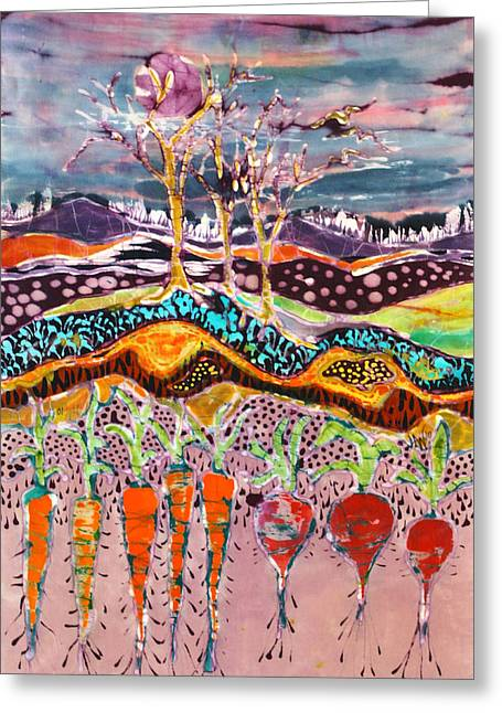 Spring Tapestries - Textiles Greeting Cards - After the Thunderstorm Greeting Card by Carol Law Conklin