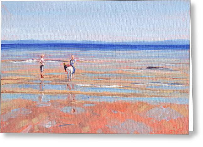 After The Walk - Whiting Bay Greeting Card