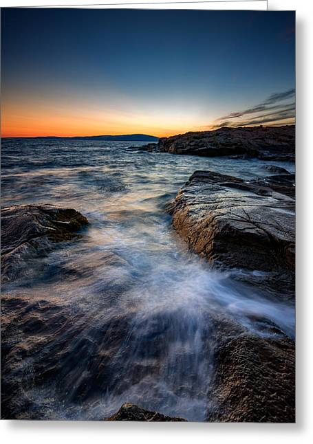 Afterglow At Schoodic Point  Greeting Card