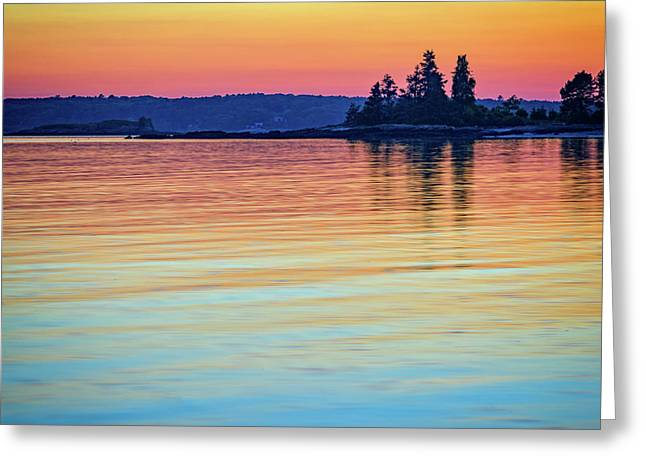 Afterglow On Johns River Greeting Card by Rick Berk
