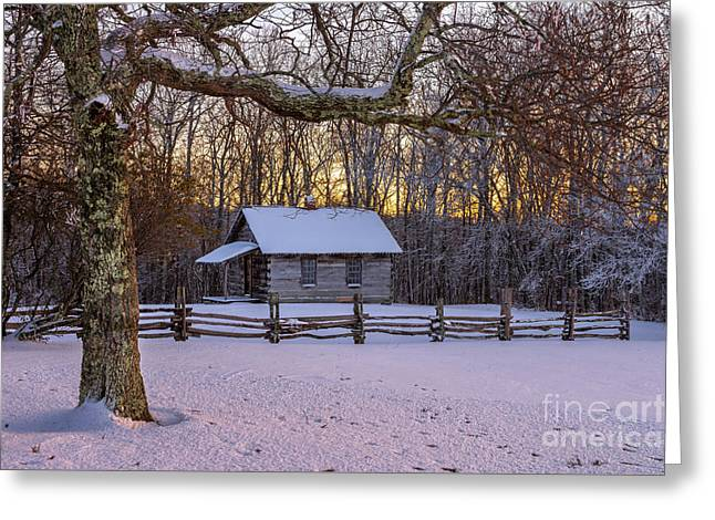 Afterglow Snow Greeting Card by Anthony Heflin