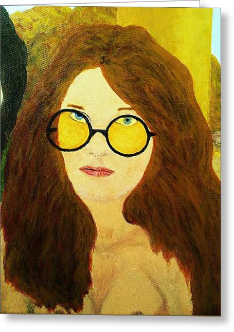 Afterlife Concerto Janis Joplin Greeting Card