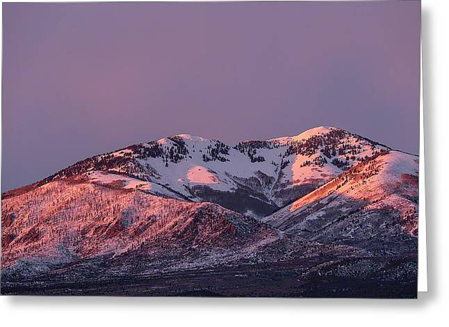 Greeting Card featuring the photograph Afternoon Alpenglow On South Mountain by Deborah Hughes