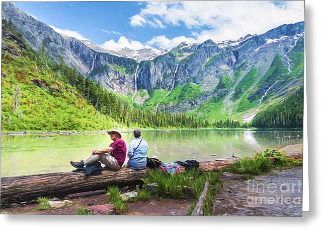 Afternoon At Avalanche Lake Greeting Card