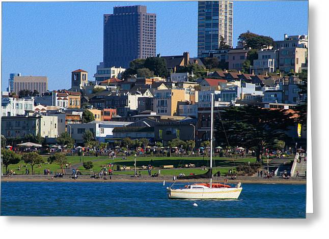 Afternoon At Maritime Park Greeting Card