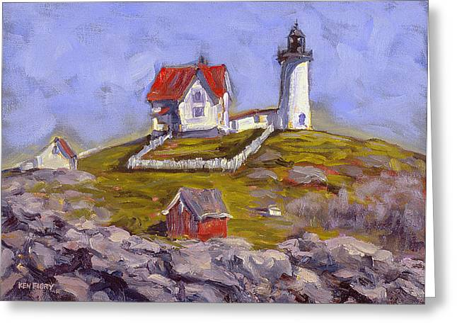 Afternoon At Nubble Light Greeting Card