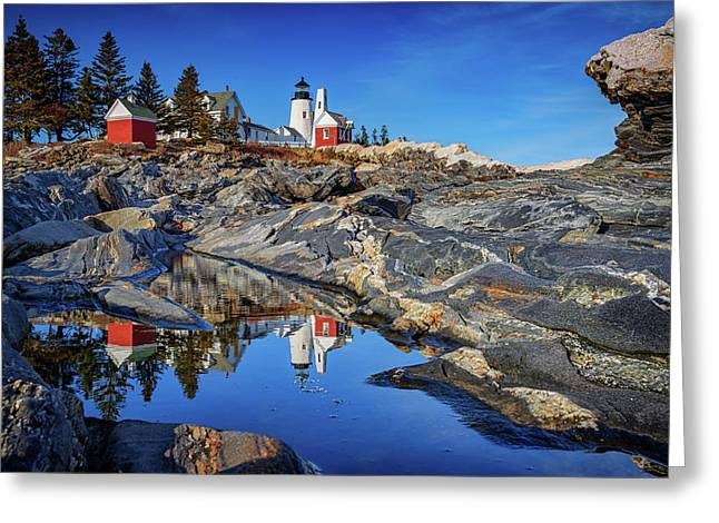 Afternoon At Pemaquid Point Greeting Card by Rick Berk