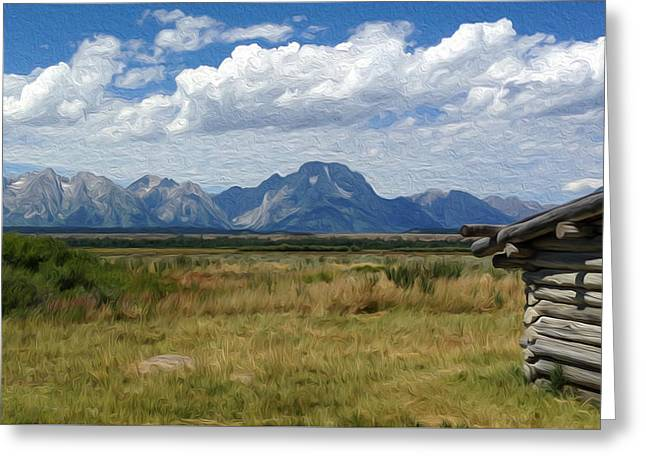 Afternoon At The Tetons Greeting Card