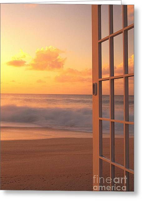 Afternoon Beach Scene Greeting Card by Dana Edmunds - Printscapes