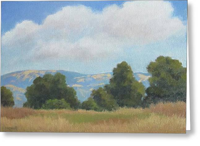 Afternoon Clouds Carpinteria Bluffs Greeting Card