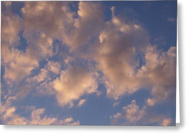 Afternoon Clouds Greeting Card by Susan Pedrini