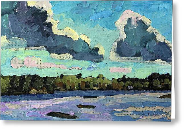 Afternoon Cold Front Greeting Card by Phil Chadwick