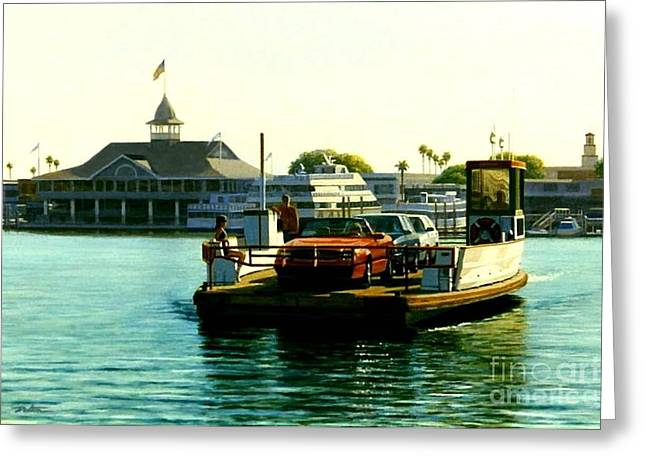 Afternoon Crossing Greeting Card by Frank Dalton