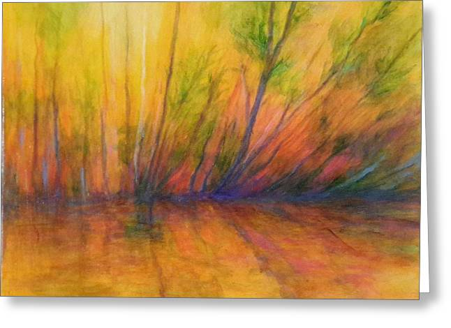Afternoon Glow  Greeting Card by Alison Caltrider
