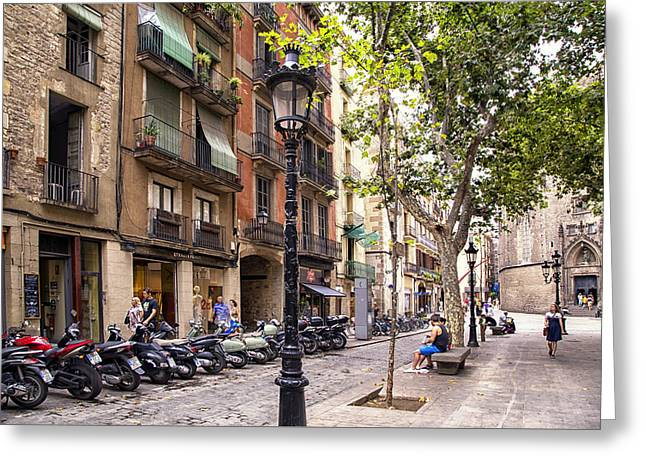 Afternoon In Barcelona Greeting Card by Georgia Fowler