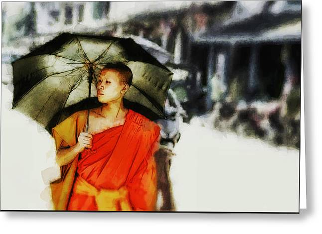 Afternoon In Luang Prabang Greeting Card by Cameron Wood