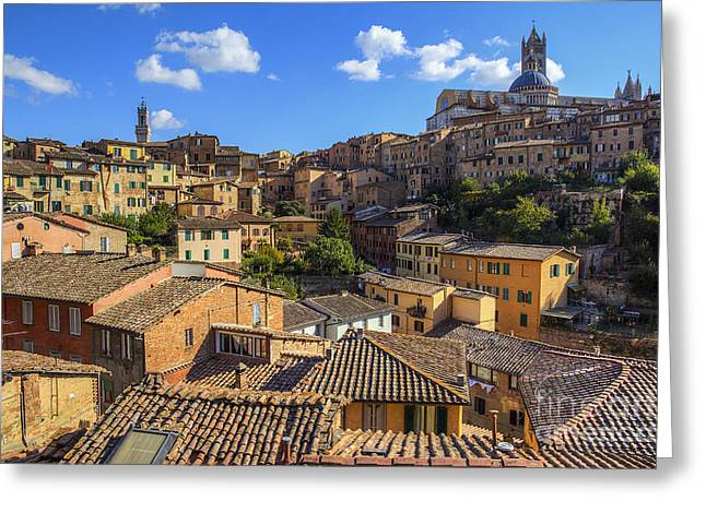 Afternoon In Siena Greeting Card by Spencer Baugh