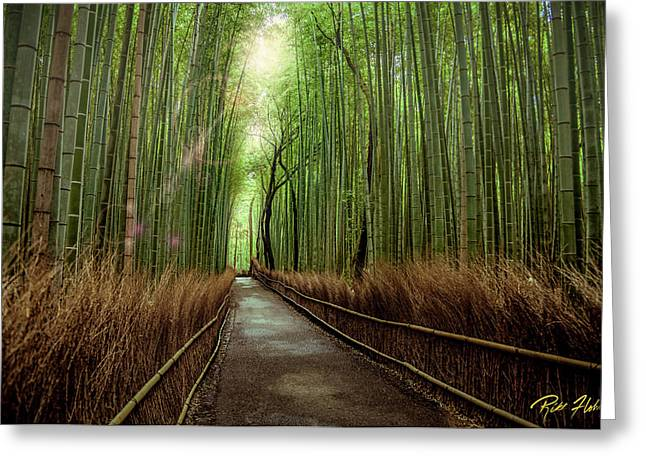 Afternoon In The Bamboo Greeting Card by Rikk Flohr