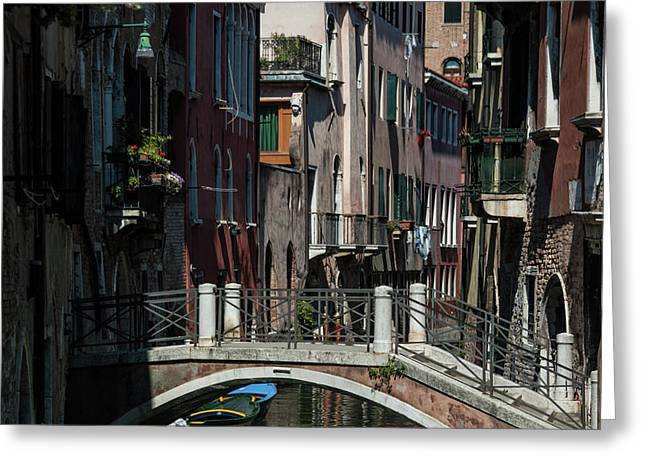 Greeting Card featuring the photograph Afternoon In Venice by Alex Lapidus