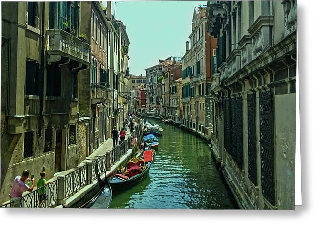 Greeting Card featuring the photograph Afternoon In Venice by Anne Kotan