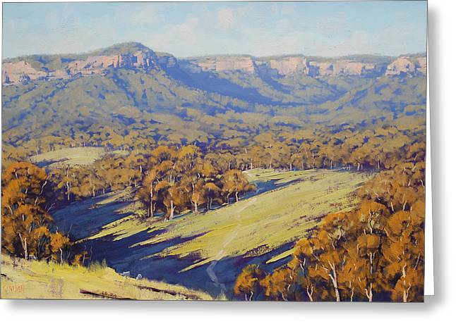 Afternoon Light Megalong Valle Greeting Card