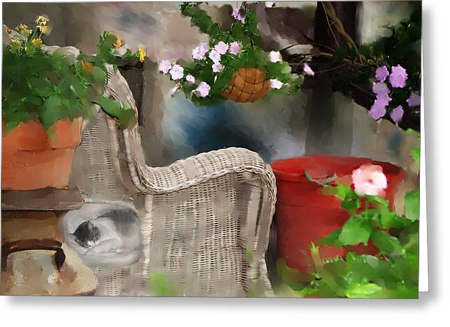 Afternoon Nap Greeting Card by Ken Barker