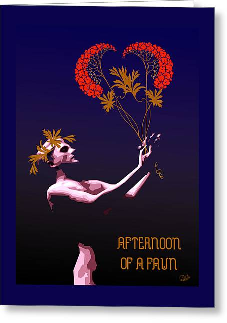 Afternoon Of A Faun Greeting Card by Quim Abella