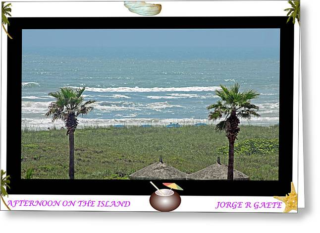 Afternoon On The Island A Poster Greeting Card by Jorge Gaete