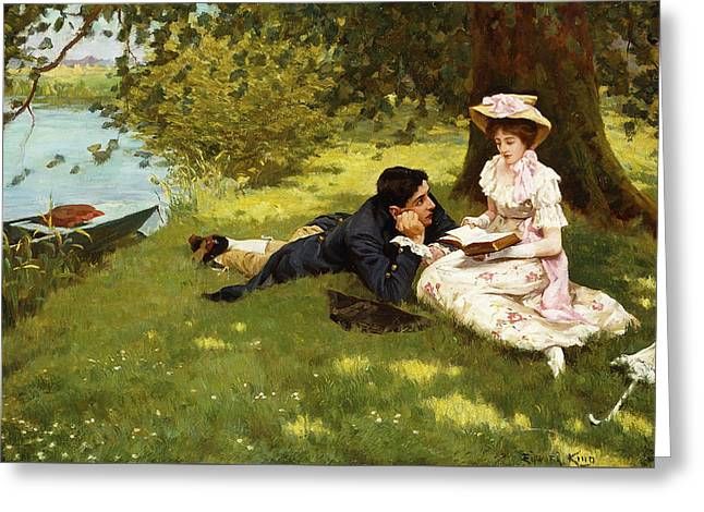 Afternoon Pastimes Greeting Card by Edward R King