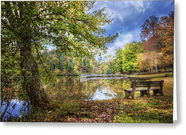 Afternoon Reflections Greeting Card by Debra and Dave Vanderlaan