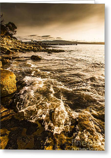 Afternoon Rocky Coast  Greeting Card by Jorgo Photography - Wall Art Gallery