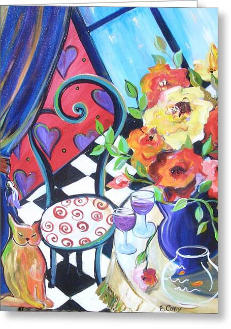 Afternoon Romance Greeting Card by Elaine Cory