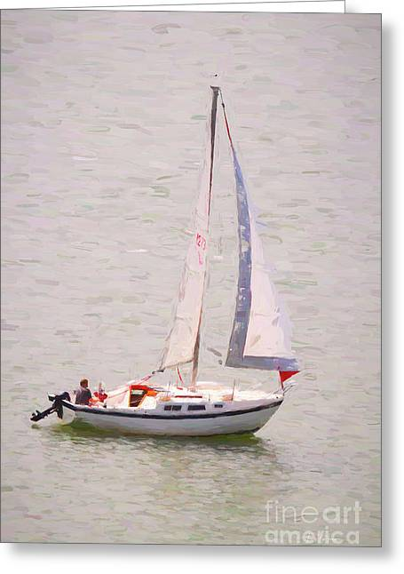 Greeting Card featuring the photograph Afternoon Sail by James BO Insogna