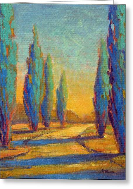 Afternoon Shadows 4 Greeting Card