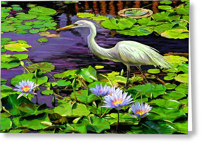 Greeting Card featuring the painting Afternoon Snack by David  Van Hulst