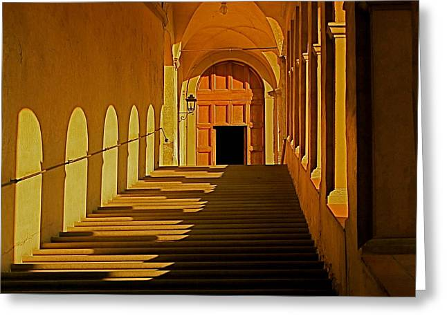 Greeting Card featuring the photograph Afternoon Sun-certosa Del Galluzzo by Nicola Fiscarelli