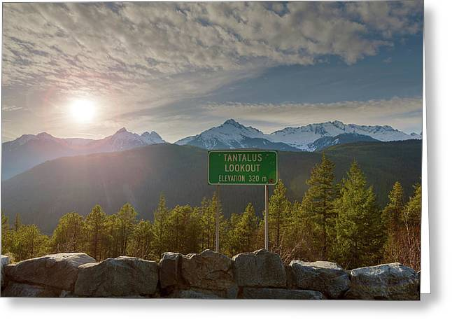 Afternoon Sun Over Tantalus Range From Lookout Greeting Card