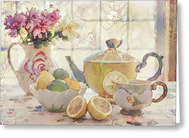 Afternoon Tea Greeting Card by Amy Cicconi