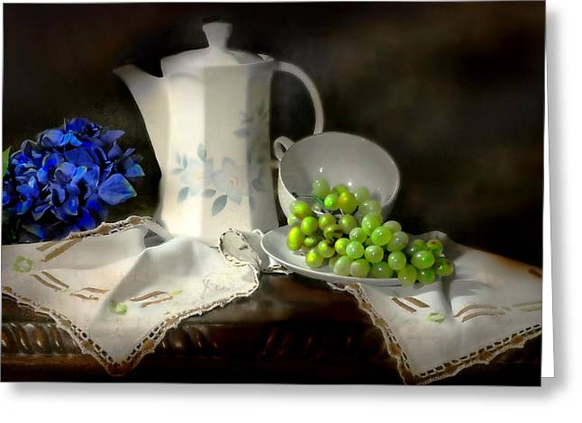 Afternoon Tea Greeting Card by Diana Angstadt