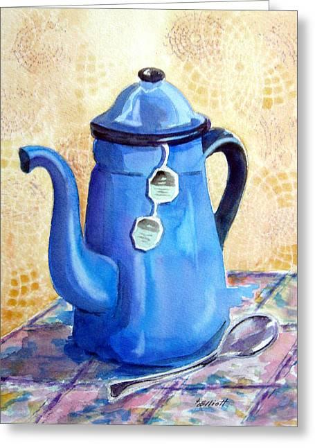 Afternoon Tea Greeting Card by Marsha Elliott