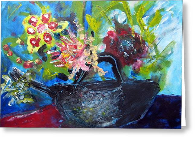 Afternoon Tea Two Greeting Card by Rebecca Merola