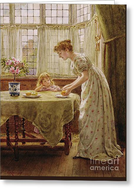 Afternoon Treat Greeting Card by George Goodwin Kilburne