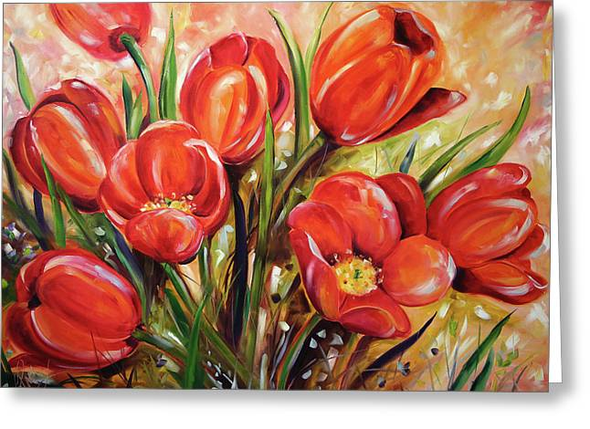 Afternoon Tulips Greeting Card