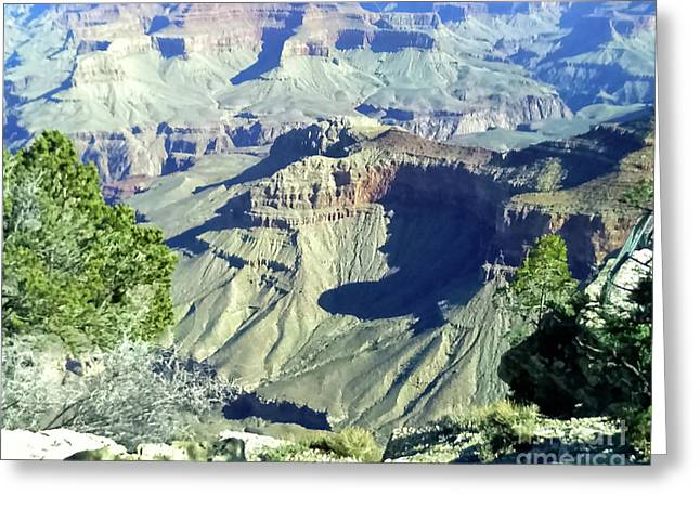 Afternoon View Grand Canyon Greeting Card