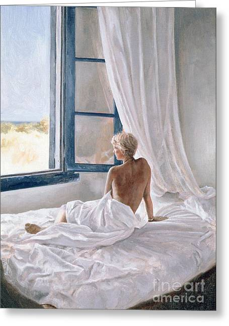 Recently Sold -  - Female Body Greeting Cards - Afternoon View Greeting Card by John Worthington