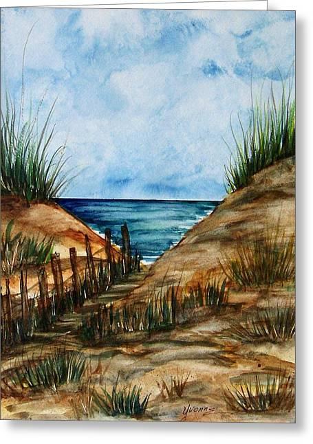 Afternoon Walk Greeting Card by Yvonne Kinney